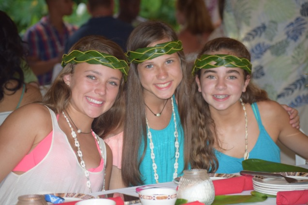 Luau in Waikiki with Madison & Allyson